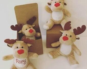 Reindeer teddy's personalised
