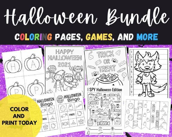 Halloween Activity Preschool and Kindergarten Bundle Kids