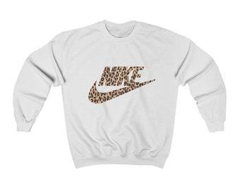 Cheetah print Nike inspired sweatshirt   nike   cheetah print nike Crewneck