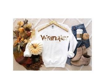 Cowprint Wrangler sweatshirt, Wrangler cowprint shirt, western shirt   punchy   cowboy killer
