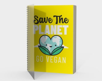 Save the Planet, Go Vegan | Spiral Notebook