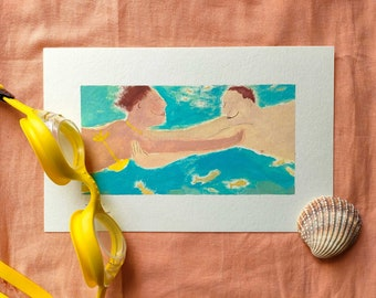 Lovers underwater