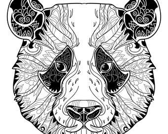 30 Coloring Pages I Animal Mandala Coloring Book I Digital/Downloadable/Printable PDF/Instant