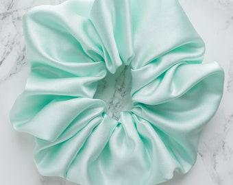 Light Mint Satin XL Scrunchie