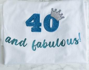 Fabulous Adult Birthday Tshirt