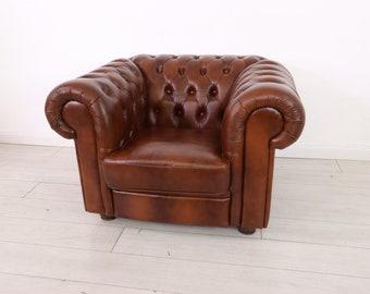 Original Chesterfield Leather Armchair