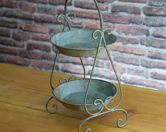 Etagere Antique Shabby Country House Romantic Floor Stand Fruit Pastry Decoration