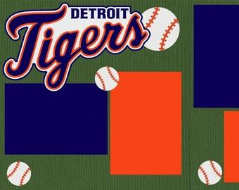 Detroit Tigers Scrapbook Page Kit