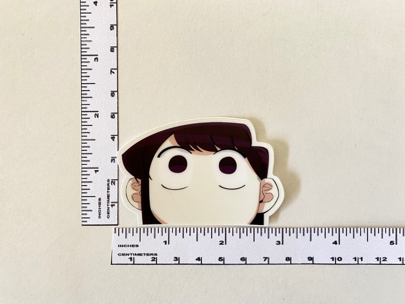 komi shouko komi can t communicate anime sticker mini etsy