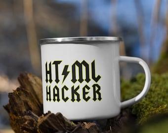 HTML HACKER - Enamel Mug