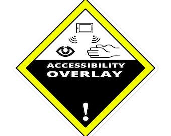 Overlay Hazard - Bubble-free stickers