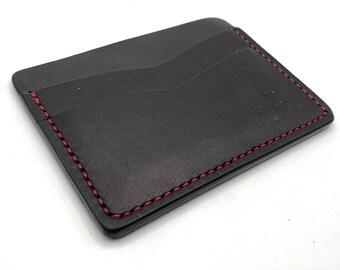 Austin Handmade Leather Horizontal Minimalist Wallet Front Pocket Wallet Vegetable Tan Leather