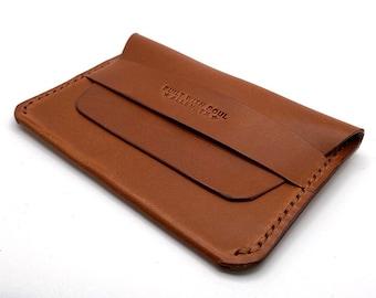 Handmade Men's Leather Wallet Flap Wallet Picket Wallet Card Holder Minimalist Wallet