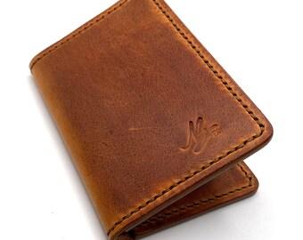 The Dallas Handmade Leather Wallet Bifold Wallet Men's Wallet