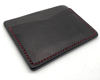 You Choose Made-To-Order Handmade Austin Leather Horizontal Minimalist Wallet Vegetable Tan Leather
