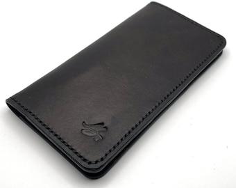 San Antonio Leather Long Wallet Trucker Wallet Roper Wallet Mens Womens
