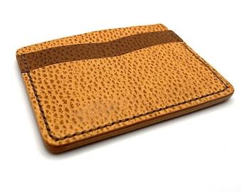 Handmade Leather Wallet Minimalist Wallet Mens Wallet Front Pocket Vegetable Tan Leather
