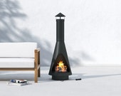 Carrion steel wood burning chiminea