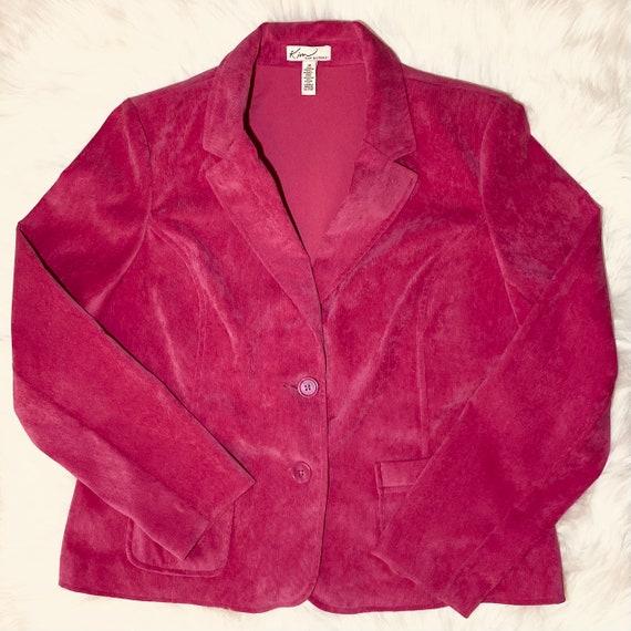 Vintage Hot Pink Corduroy Blazer - image 1