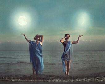 Ocean and Moon Spirit - Photographic Fine Art Print