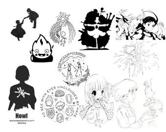 23 Howl's Moving Castle Movie SVG File Set