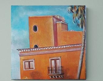 Spain II Tenerife, Original, Painting, Acrylic, Canvas painting, Unique, handmade, Acrylic painting, Artist, Mural,