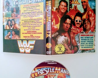 WWF 1993 WRESTLEMANIA 9 DVD & Case Vhs