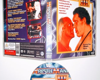 WWF 1987 WRESTLEMANIA 3 DVD & Case Vhs