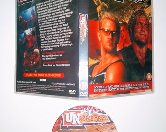 WCW 2000 UNCENSORED 6 DVD & Case Vhs
