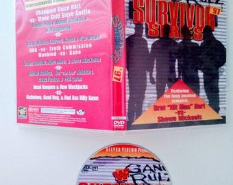 WWF 1997 SURVIVOR SERIES 11 Dvd & Case Vhs