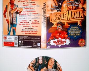 WWF 1996 WRESTLEMANIA 12 Dvd & Case Vhs
