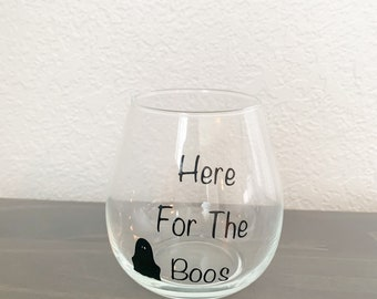 Here for the boos stemless glass, stemless wine glass, fall stemless wine glass