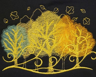 Autumn leaves blowing on a windy day - Sweatshirt