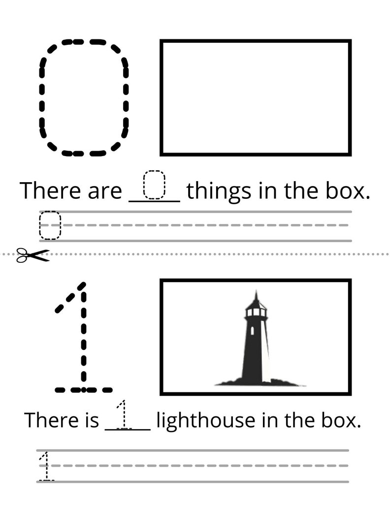 0-9 Counting and Teaching Pages image 1