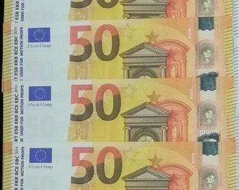 Nine! Magnificent Lot Of 10 X Fake Notes Of 50 Euros Fake Fake Not Original! Ideal For Gag Pranks! Magic etc.