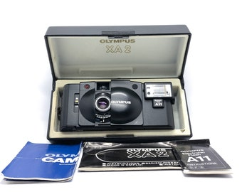 Mint Condition! Olympus XA2 + A11 Flash 35mm Point and Shoot Film Camera + FREE gift!