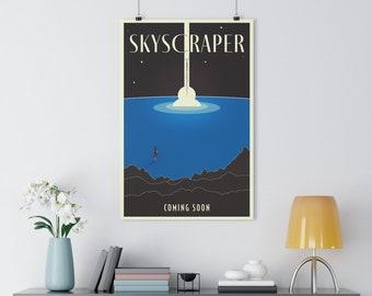 Skyscraper Minimalist Premium Movie Poster