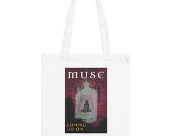 Muse Movie Poster Minimalist Print | Long Handle Canvas Tote Bag | 2 colors