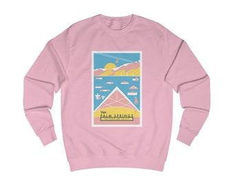 Palm Springs California Mid-Century Town Minimalist Print | Men's Sweatshirt | 6 colors