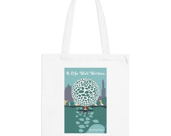 A Life Well Written Movie Poster Minimalist Print | Long Handle Canvas Tote Bag | 2 colors