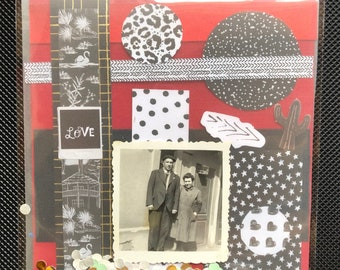 Collage Kit with Original Vintage Photo - Art Collage - Kit - Creation