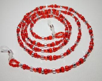 Eyewear glasses chain, red