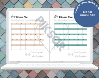 Couple Fitness Planner His Hers
