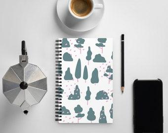 Tree Pattern Spiral notebook