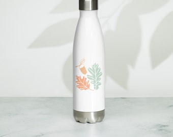Simple Fall / Autumn Stainless Steel Water Bottle