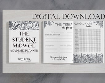 Student Midwife Academic Planner: MEAC Program Edition (digital download, printable organization tool for CPM student midwives)