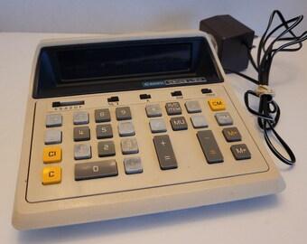 Vintage 1976 Canon Desktop Display Calculator - Canola L1214 With AC Adapter