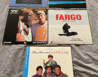 Retro Laserdisc Option Of: Stand By Me, Starman, Fargo, Three Men And A Little Lady Or White Men Can't Jump