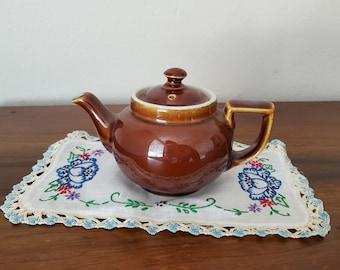 Vintage Hall Teapot - Brown, Ceramic