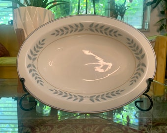 Vintage Lamberton Ivory China Empire 10 inch Oval Serving Bowl